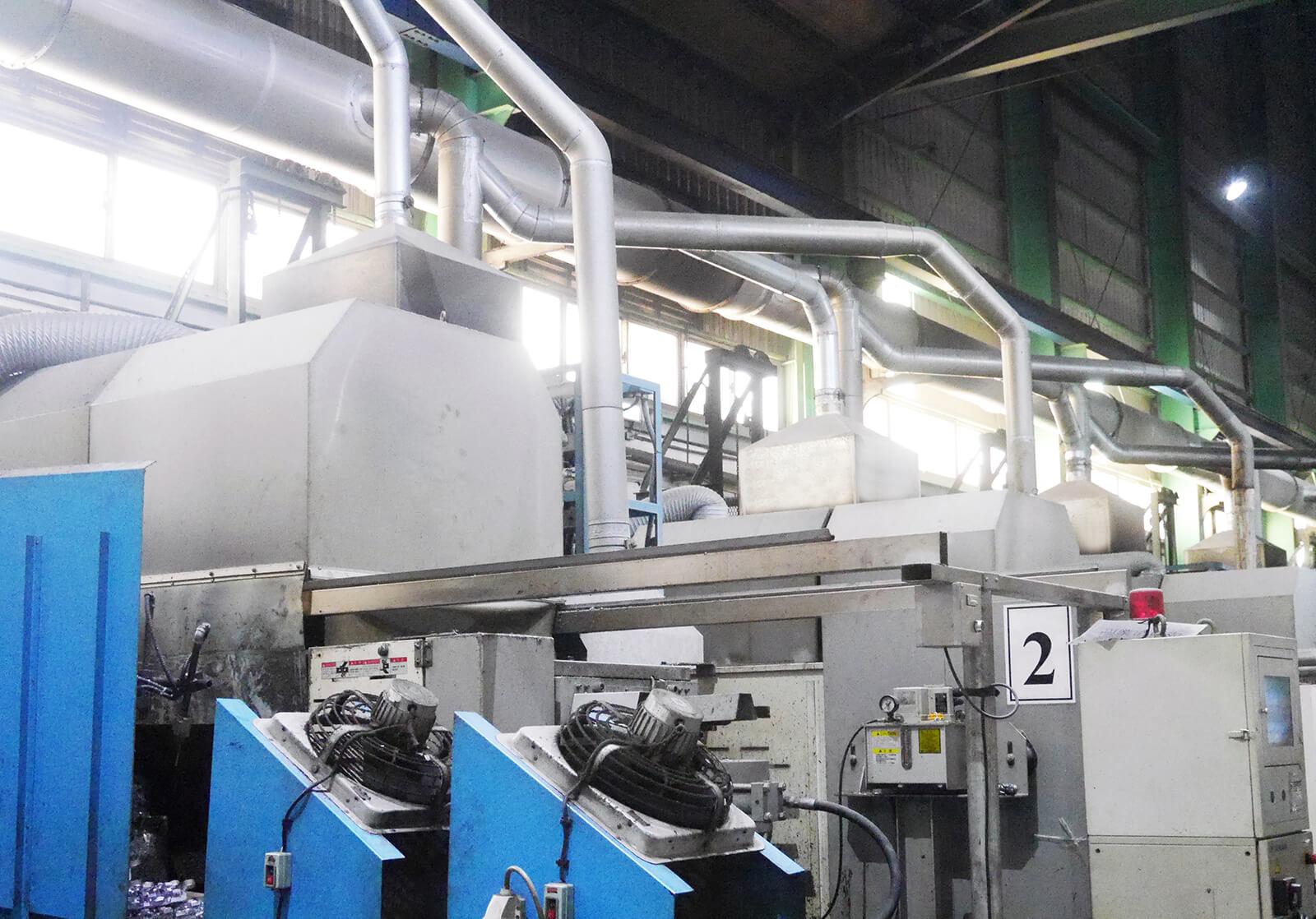 保技鋁業壓鑄機加裝廢氣回收,致力於建構安全、健康的工作環境
